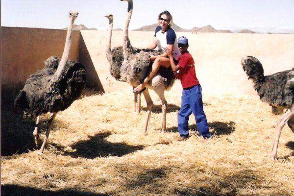 Ostrich-riding