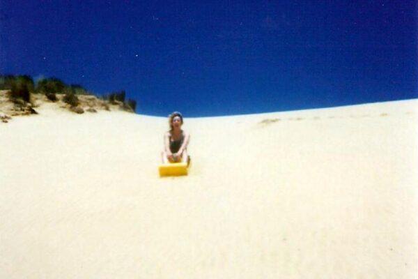 Sand-tobogganning